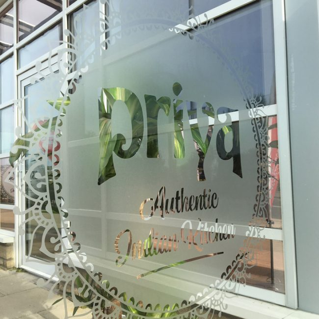 Priya Authentic Indian Kitchen Glass Panel Graphics